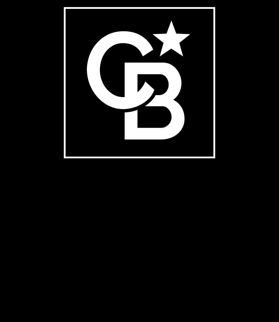 Framed Logo Vertical Stacked Black