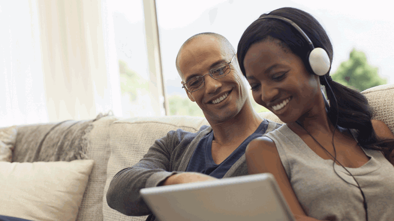 power couple in online class