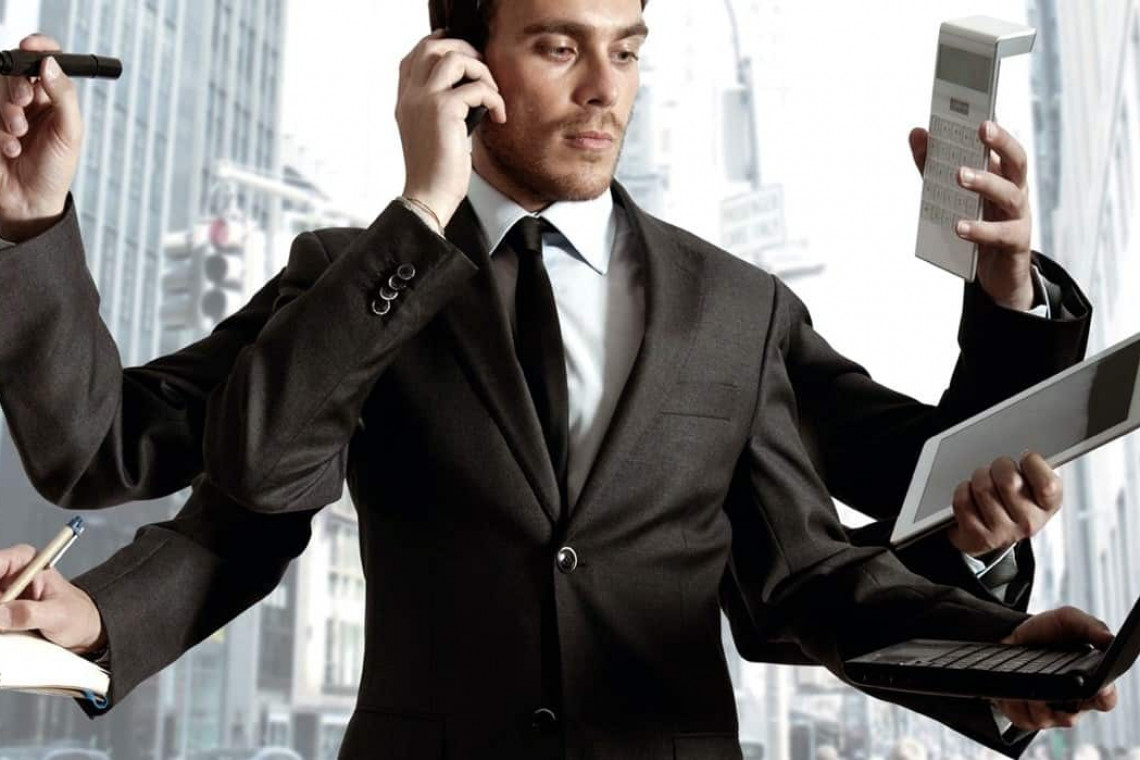 business person busy